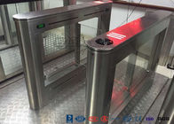 Biometric Swing Barrier Gate Stainless Steel Acrylic Flap Barrier Gate