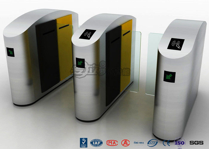 High Speed Turnstile Access Control System Entrance Security Solutions Soft Flapper