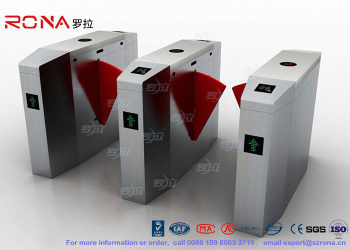 Indoor / Outdoor Flap Waist Height Turnstile Flap Barrier Gate High Speed Using In China Bank