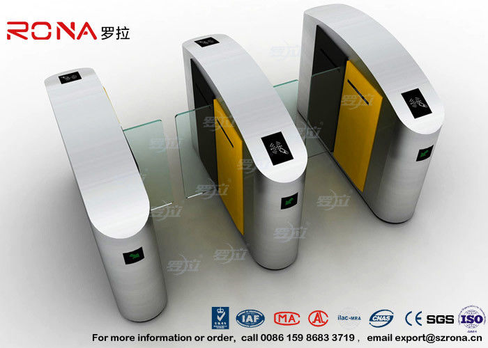 304 Stainless Steel Turnstile Barrier Gate Flap Barrier Gate Sliding Waist Height Turnstiles With DC Brush Motor