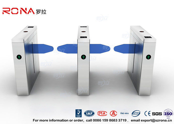 Waterproof Drop Arm Access Control Turnstiles 304 Stainless Steel 2 RFID Readers