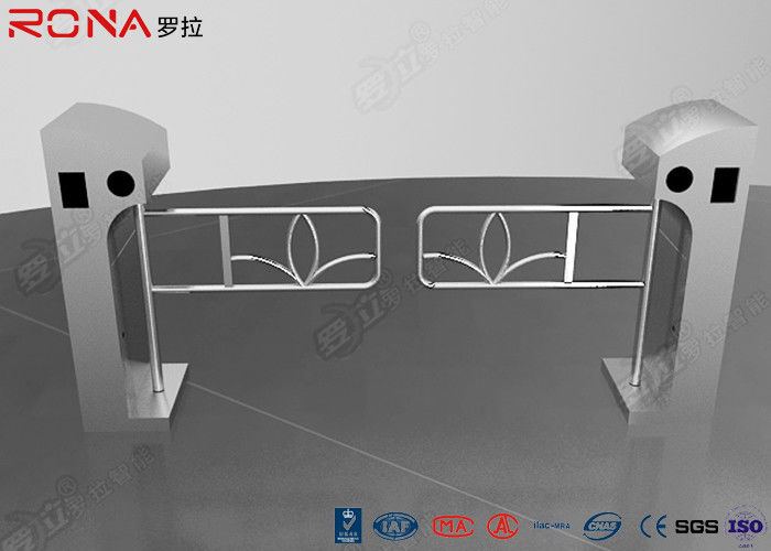 Digital Optical Swing Gate Turnstile Controlled Acrylic / Tempered Glass Arm