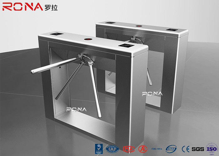 Public Tripod Turnstile Gate 50hz 50w Face Recognition RFID Card Reader Function