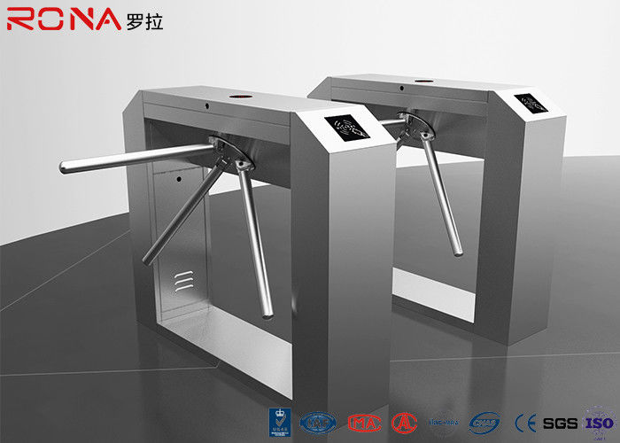 Rfid Access Control Tripod Turnstile Gate Single / Bi - Direction Communication Interface