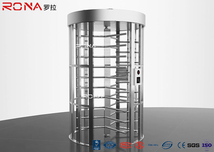 Double Lane Pedestrian Turnstile Gate DC 24 V Brush Motor With Automatic Coin Operated
