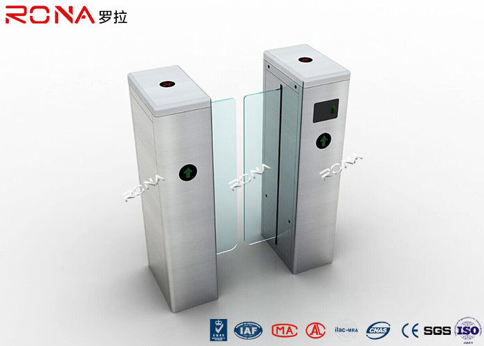 Half Height Sliding Optical Barrier Turnstiles High End 30~40 Persons / Min