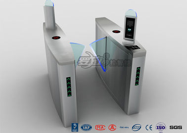 چین Fingerprint Flap Barrier Turnstile Half Height Security 304 Stainless Steel کارخانه